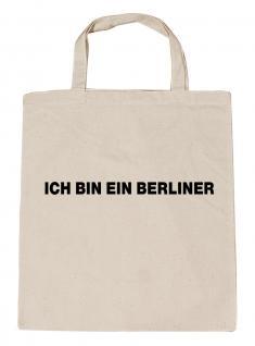 (06879-Tasche) Umweltfreundliche Baumwoll - Tasche , ca. 28 x 43 cm mit Aufdruck? Berlin?