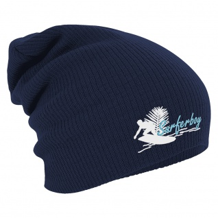 Longbeanie Slouch-Beanie Wintermütze Surferboy 55183 Navy