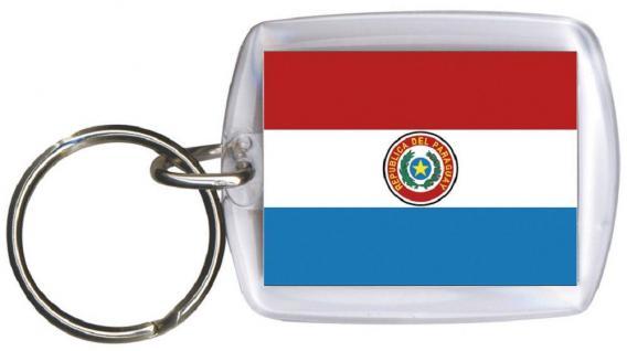 Schlüsselanhänger Anhänger - PARAGUAY - Gr. ca. 4x5cm - 81128 - Keyholder WM Länder