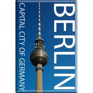 Kühlschrankmagnet - Capital Berlin - Gr. ca. 8 x 5, 5 cm - 38710 - Küchenmagnet