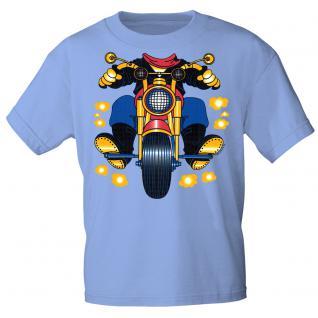 Kinder Marken-T-Shirt mit Motivdruck in 13 Farben Motorrad K12780 hellblau / 122/128