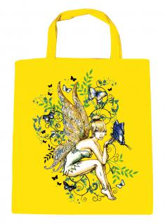 (U10972)Umweltfreundliche Baumwoll - Tasche , ca. 28 x 43 cm mit Aufdruck in 7 Farben gelb
