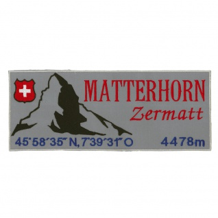 Rückenaufnäher Aufnäher Patches Berg Matterhorn Zermatt Gr. ca. 27cm x 11cm - 02909