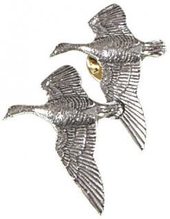 Anstecknadel - Metall - Pin - Flugente Gans Vogel - 02599