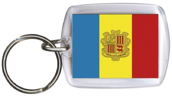 Schlüsselanhänger Anhänger - ANDORRA - Gr. ca. 4x5cm - 81010 - WM Länder