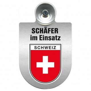 Einsatzschild Windschutzscheibe incl. Saugnapf - Schäfer im Einsatz - 309387 - Region Schweiz