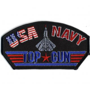 Aufnäher - TOP GUN - 00677 - Gr. ca. 14 x 7, 5 cm - Patches Stick Applikation