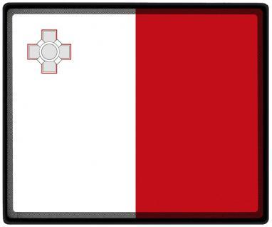 Mousepad Mauspad mit Motiv - Malta Fahne Fußball Fußballschuhe - 82102 - Gr. ca. 24 x 20 cm