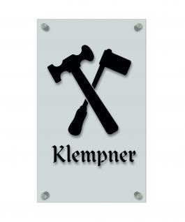 Zunftschild Handwerkerschild - Klempner - beschriftet auf edler Acryl-Kunststoff-Platte ? 309436 schwarz