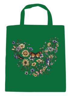 (U09840)Umweltfreundliche Baumwoll - Tasche , ca. 28 x 43 cm mit Aufdruck in 7 Farben grün