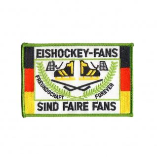 Aufnäher Patches Eishockey Fans sind faire Fans Gr. ca. 13 x 8, 5 cm 20635