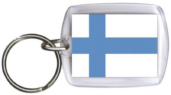 Schlüsselanhänger - FINNLAND - Gr. ca. 4x5cm - 81050 - WM Länder