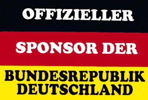 Auto-Aufkleber Hinweisschild - Offizieller Sponsor der Bundesrepublik Deutschland - Gr. ca. 14 x 9cm (303199) Spass Button Emblem Stick