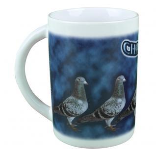 Tasse Kaffeebecher mit Print Tauben Champions 57435/1