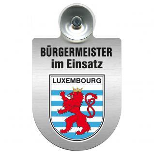 Einsatzschild Windschutzscheibe incl. Saugnapf - Bürgermeister - im Einsatz - 309395 - Region Luxembourg
