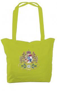 Umhängetasche mit Einstickung Einkaufstasche Bag Bayern 08988 lime grün