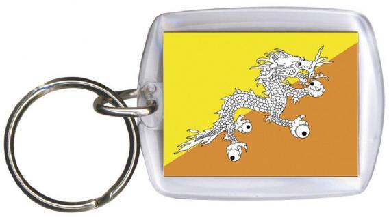 Schlüsselanhänger - BUTAN - Gr. ca. 4x5cm - 81035 - WM Länder
