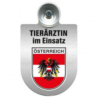 Einsatzschild für Windschutzscheibe incl. Saugnapf - Tierärztin im Einsatz - 309474-20 Region Österreich