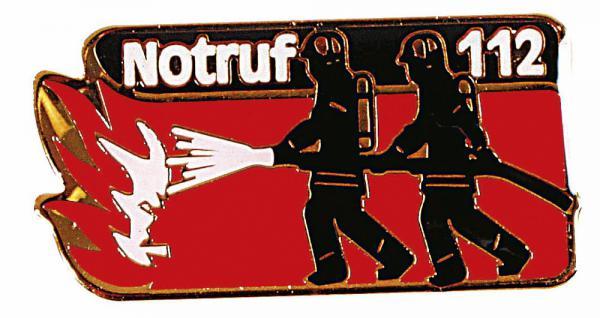 Anstecknadel - Notruf 112 - Größe ca. 45mm x 3 cm - 02848