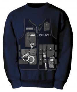 Kinder-Sweat-Shirt mit Print - Polizei - 12793 marine - Gr. 122/128