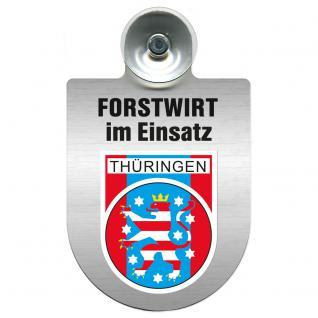 Einsatzschild für Windschutzscheibe incl. Saugnapf - Forstwirt im Einsatz - 309468-13 Region Thüringen