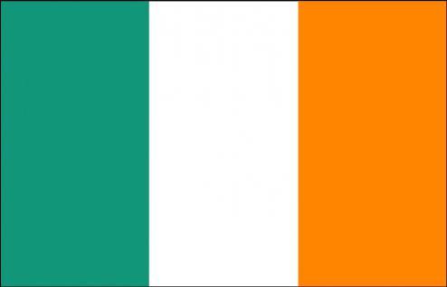 Autoscheibenfahne - Irland - Gr. ca. 40x30cm - 78030 - Autofahne - Länderflagge mit Klemmstab