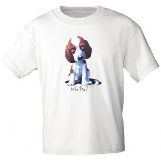 Kinder T-Shirt Print Hundewelpe Who me ? 12659 Gr. 110-164