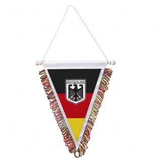 Wimpel mit Fransen - Deutschland Adler - dreieckige Form 78192