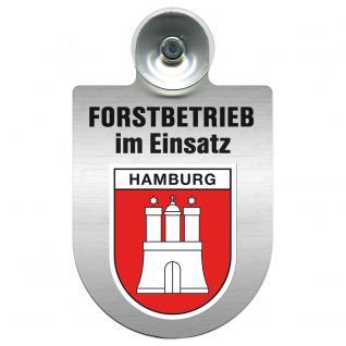 Einsatzschild Windschutzscheibe incl. Saugnapf - Forstbetrieb im Einsatz - 309374-15 - Region Hamburg