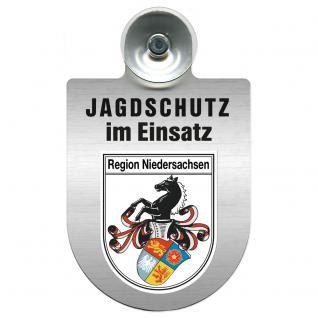 Einsatzschild Windschutzscheibe incl. Saugnapf - Jagdschutz im Einsatz- 309368-7 - Region Niedersachsen