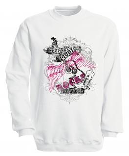Sweatshirt mit Print - Country Music - S10247 - versch. farben zur Wahl - Gr. weiß / XXL