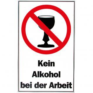 Verbotsschild - Kein Alkohol - Gr. ca. 40 x 25 cm - 308696