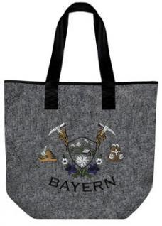 Filztasche mit Einstickung - BAYERN Rucksack Enzian - 26008 - Tasche Shopper Bag Umhängetasche