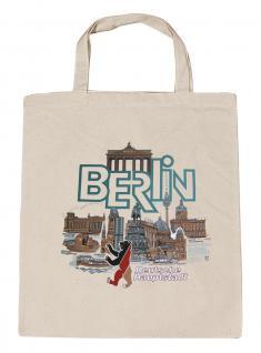 (09394-Tasche) Umweltfreundliche Baumwoll - Tasche , ca. 28 x 43 cm mit Aufdruck? Berlin?