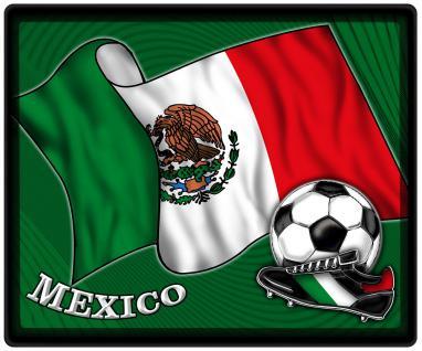 Mousepad Mauspad mit Motiv - Mexiko Fahne Fußball Fußballschuhe - 83107 - Gr. ca. 24 x 20 cm