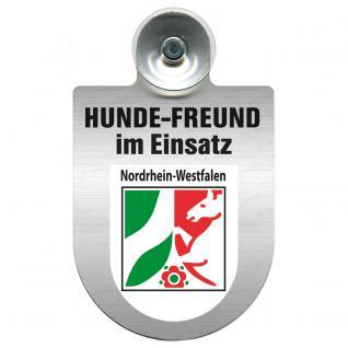 Einsatzschild Windschutzscheibe incl. Saugnapf - Hundefreund im Einsatz - 309359-8 - Region Nordrhein-Westfalen