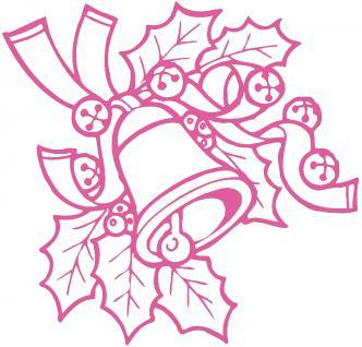 """Wandtattoo/ Dekorfolie mit Motiv """" Zweig mit Glocke"""" Ø 90cm Länge max. 100 cm, in 11 Farben WD0801 rosa"""