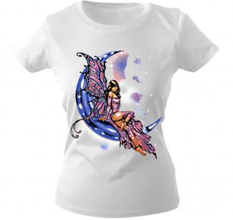 Girly-Shirt mit Print - Elfe - 10899 - versch. farben zur Wahl - weiß / S