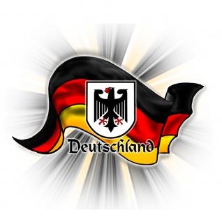 Magnetbutton - Deutschland Flagge wehend - Gr. ca. 5, 7 cm - 16223 - Küchenmagnet