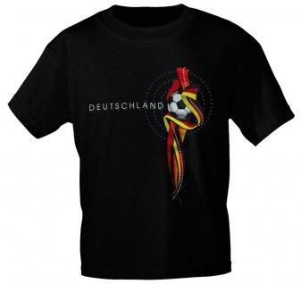 Girly-Shirt mit Print - DEUTSCHLAND - 78557 - schwarz / XXL