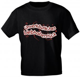 Kinder T-Shirt mit Aufdruck - Unverkäufliches Liebhaberstück - 06978 - schwarz - Gr. 152/164
