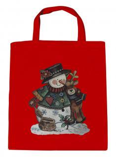 (08903/1-rot) Umweltfreundliche Baumwoll - Tasche , ca. 28 x 43 cm mit Aufdruck