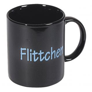 Motivtasse mit Print Flitchen 57109 schwarz