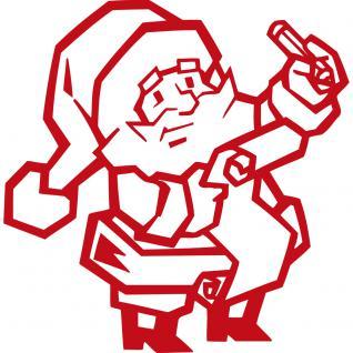 Wandtattoo Dekorfolie - Weihnachtsmann - AP1038 - rot / 90cm
