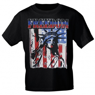 T-SHIRT Print USA Freedom Freiheitsstatue Amerika 10983 Gr. schwarz / XXL