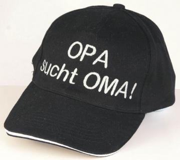 Baseballcap mit Einstickung - Opa sucht Oma - 68567 schwarz