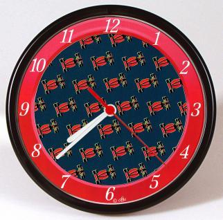 Wanduhr - Uhr - Clock - batteriebetrieben - Rennwagen rot - Größe ca 25 cm - 56726