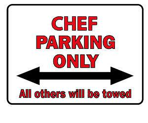 Hinweisschild - Chef Parking Only - 308735 - Gr. 40 x 30 cm