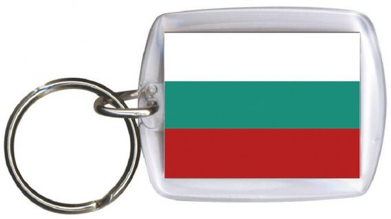 Schlüsselanhänger Anhänger - BULGARIEN - Gr. ca. 4x5cm - 81032 - WM Länder