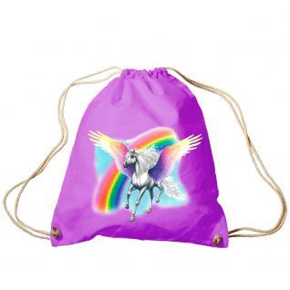 Trend-Bag Turnbeutel Sporttasche Rucksack mit Print - Pegasus - TB12663